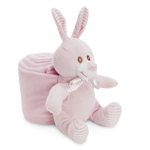 Bunny and Blanket Pink